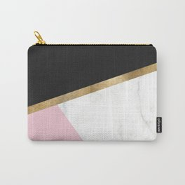 Glam blush marble geo Carry-All Pouch