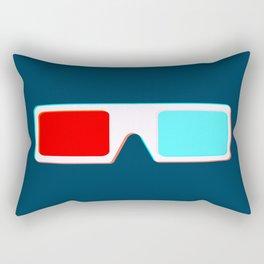 3-D Glasses Rectangular Pillow