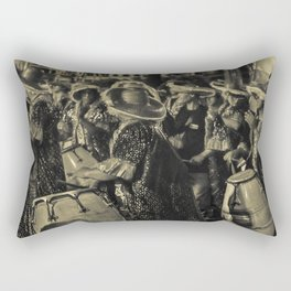 Group of Candombe Drummers at Carnival Parade of Uruguay Rectangular Pillow