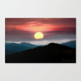 with Every Sunrise, Brings A new Begining Canvas Print