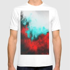 Painted Clouds III.1 White Mens Fitted Tee MEDIUM