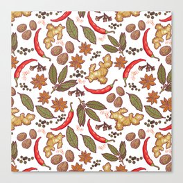 Spices pattern. Canvas Print
