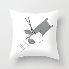 cooking live Throw Pillow