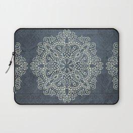 Mandala Vintage Ivory Blue Laptop Sleeve