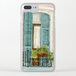New Orleans Shutters Clear iPhone Case