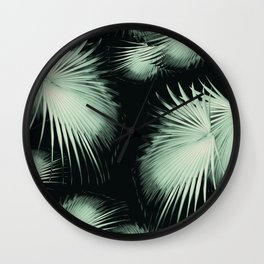Fan Palm Leaves Paradise #3 #tropical #decor #art #society6 Wall Clock