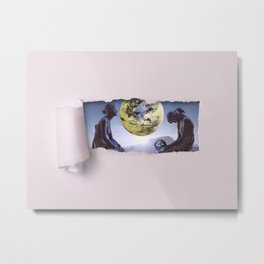 Untimely Ripped Voyeur Views: The World is in Our Hands Metal Print