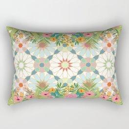 floral zellij ntropical Rectangular Pillow