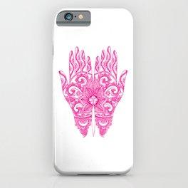 Mehndi Tattoo Hands | Ethnic Tattoos | Henna Tattoos | Tattoo Art | Hot Pink | iPhone Case