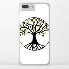 """Yggdrasil"",Golden,Tree of Life,HOME DECOR,Duvet Covers,Comforters,Bed spreads,Blankets,Backpack Clear iPhone Case"