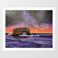 Natural Bridges Galaxy  Art Print