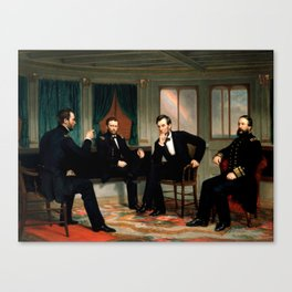 Civil War Union Leaders - The Peacemakers - George P.A. Healy Canvas Print