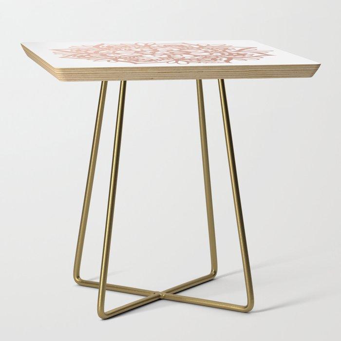 Rose Gold Mandala Side Table