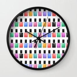 Nail Polish Wall Clock