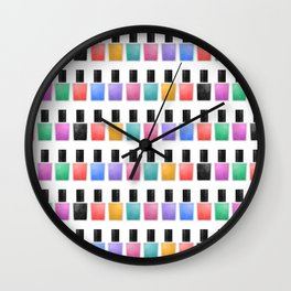 Nail Polish Wall Clock