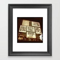 DALLAS WINDOW Framed Art Print