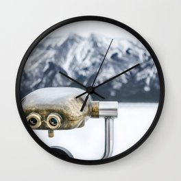 Mountain View Lookout Wall Clock