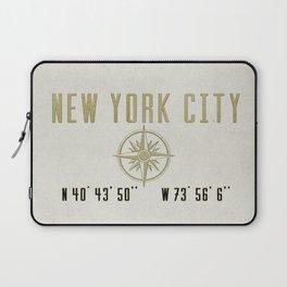 New York City Vintage Location Design Laptop Sleeve