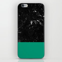 Emerald Meets Black Marble #1 #decor #art #society6 iPhone Skin