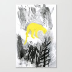 Yellow Panther Canvas Print