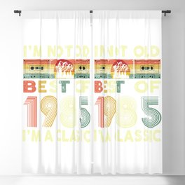 Best Of 1985 35th Birthdays Cassette Tape Vintage  Blackout Curtain