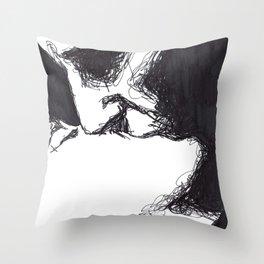 into black Throw Pillow