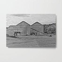 Silo at the Farm Metal Print