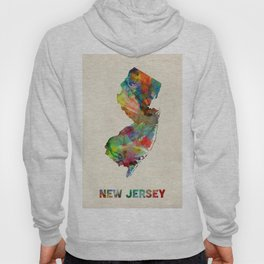 New Jersey Watercolor Map Hoody