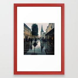 Rainy Arhus Framed Art Print