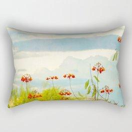 Red Bird of Paradise Rectangular Pillow