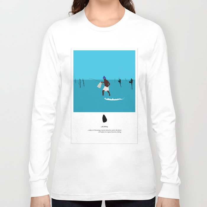 Sri Lankan fishermen 3 Long Sleeve T-shirt