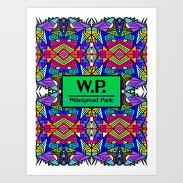 WP - Widespread Panic - Psychedelic Pattern 2 Art Print