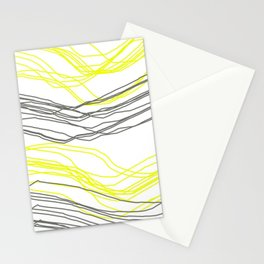 Yellow & Greay decor Stationery Cards