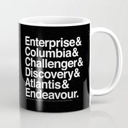 Space Shuttle Helvetica Coffee Mug