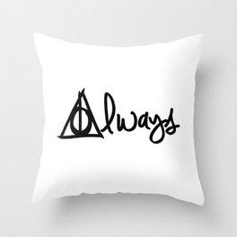 Always, Deathly Hallows, Harry Potter Throw Pillow