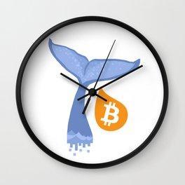 BTC WHALE Wall Clock