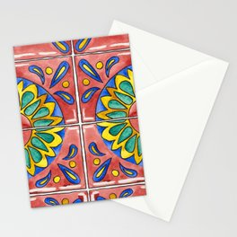 Watercolor Mexican Tile Stationery Cards