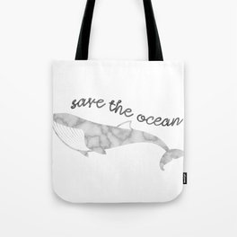 Save The Ocean - Marble Whale Tote Bag