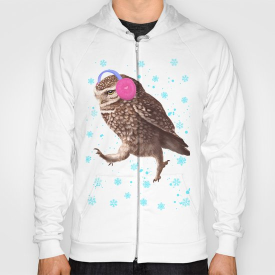 Owl with headphones Hoody