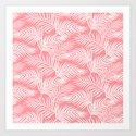 Palm Leaves_Pink by miavaldez