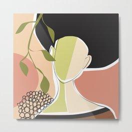 Girl and abricot tree Metal Print