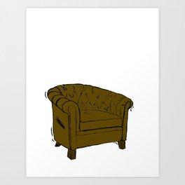 dandy chesterfield Art Print