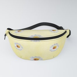 Daisies in love- Yellow Daisy Flower Floral pattern with Ladybug Fanny Pack