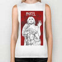 budapest hotel Biker Tanks featuring Hotel by Fernando Monroy Robles
