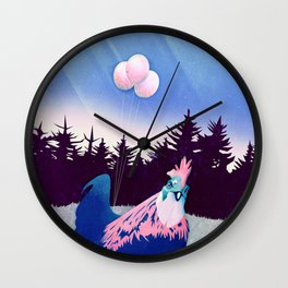 What the Hegg (Pink Version) Wall Clock