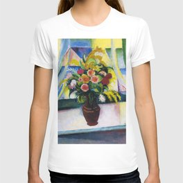 """August Macke """"Still Life: Colourful Bunch Of Flowers In Front Of A Window"""" T-shirt"""