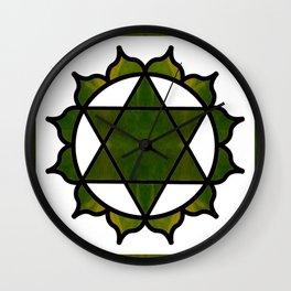Symbolic Serenity Abstract Chakra Art Wall Clock