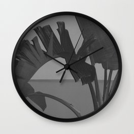 Black and White Palm Wall Clock