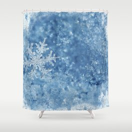 Winter wonderland Snowflakes Shower Curtain