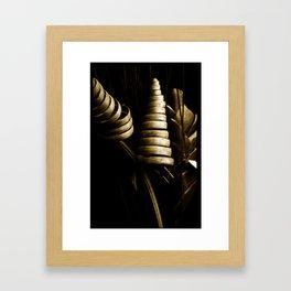 Corn swirls Framed Art Print